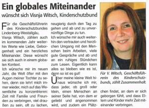 Lindenberg Aktiv: Globales Miteinander