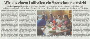 """Ferienspaß 2014 – Berichte """"Der Westallgäuer, Lindenberg aktiv"""""""