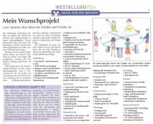 Westallgäu plus: Volksbank Wunschprojekt