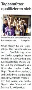 Lindenberg aktiv: Fachberatung Kindertagespflege