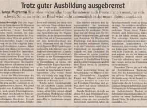 Wer ohne ordentlich Sprachkenntnisse nach Deutschland kommt, tut sich schwer