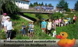 Ferienspaß 2015 – Entenrennen/Geschicklichkeitsparcours/Kinderschminken