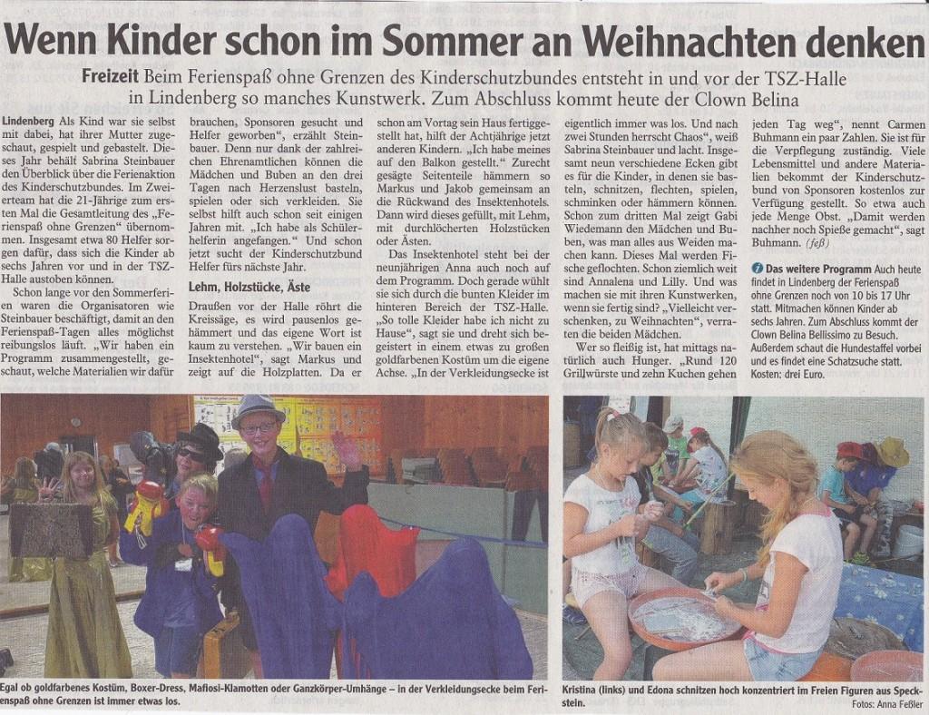 Ferienspaß 2016 - Bericht/Grafiken - Kinderschutzbund Lindenberg ...