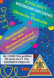 Spendenparty mit Dietsche Daduddi