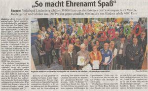 """Volksbank-Gewinnsparen: 1.500 Euro für Projekt """"KinderEuro"""""""