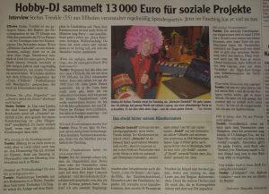 Spende – Dank an DJ Trenkle!